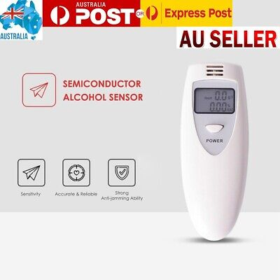 Portable Digital LCD Display Breathalyzer Analyzer Breath Alcohol Tester Detecto