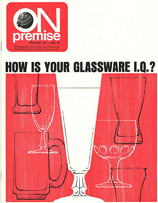 Vintage 1970 Schlitz Beer 'How Is Your Glassware Iq?' The Right Glass Makes $$$