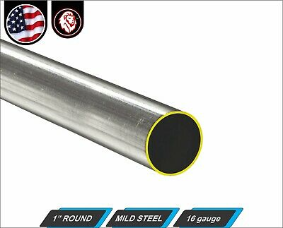 "1"" Round Tube - Cold Formed Mild Steel - 16 gauge - ERW (12"" Long)"