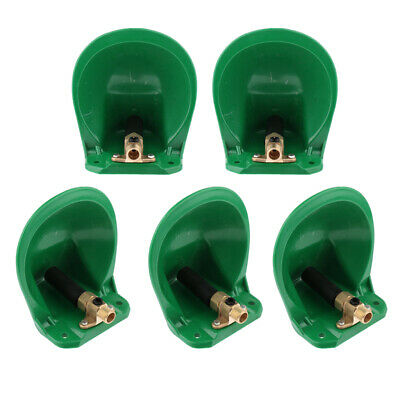5pcs Automatic Water Bowl with Metal Valve Lot for Sheep Goat Pig Cattle