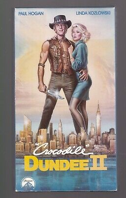 Crocodile Dundee 2 - VHS Video cassette, Paul Hogan, 1988
