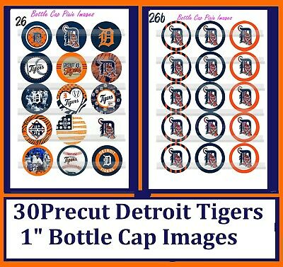 """DETROIT TIGERS 1/"""" CIRCLES  BOTTLE CAP IMAGES $2.45-$5.50  **FREE SHIPPING**"""