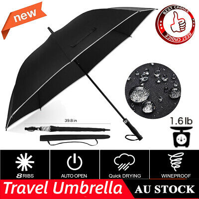 Golf Umbrella Jumbo Large Giant Oversize 40inch Auto Open Strong Lightweight AU
