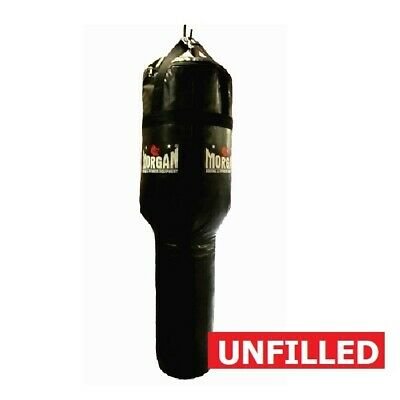 MORGAN Angle Punch Bag Muay Thai Boxing MMA Punching Bag UNFILLED ALL BLACK