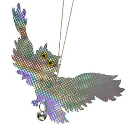 Bird Reflective Scarer Repellent Owl Bell Chimes Scare Birds Bugs Pest Control