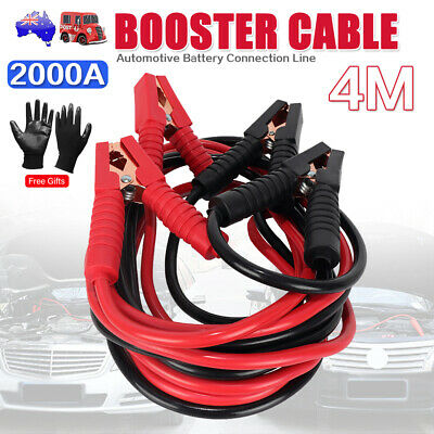 2000AMP 4M Jumper Leads Surge Protected Heavy Duty Jump Booster Cables For Car