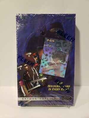 Batman Forever 1995 Trading Card Sealed Box + Hologram In Every Pack - New!!!