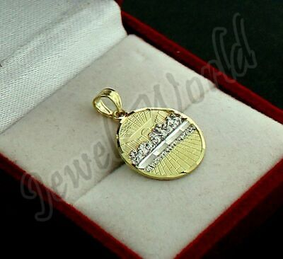 Real 10K Solid Yellow Gold Last Supper Charm Pendant Round Jesus Medallion