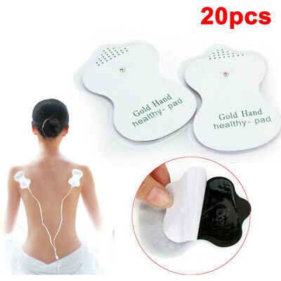 20X Snap On Stud Replacement Electrode Massage Pads for Tens Massager Machine