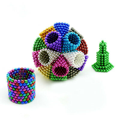 216Pcs 3/5mm Mini Magic Magnets Ball Neodymium Sphere Puzzle Cube Best Xmas Gift