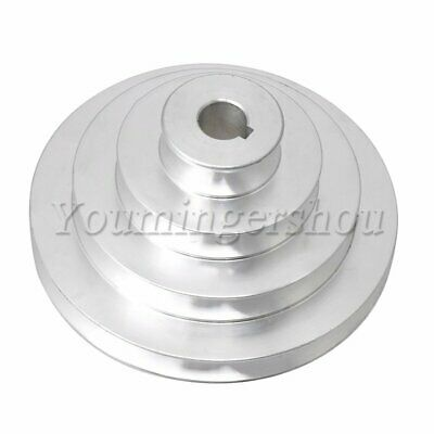 Aluminum 4 Step Pagoda Pulley for Machine Lathe 41-130mm Outer Dia