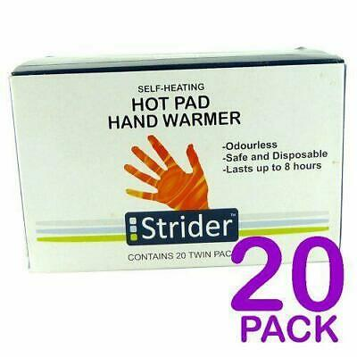 Disposable Handwarmers Pocket Bulk Pack 20 Pairs = 40 Pads Better Than Hotties