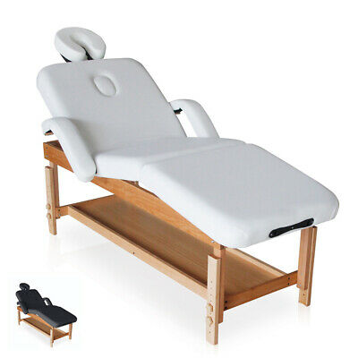 Table de massage en bois fixe réglable multiposition 225 cm MASSAGE-PRO