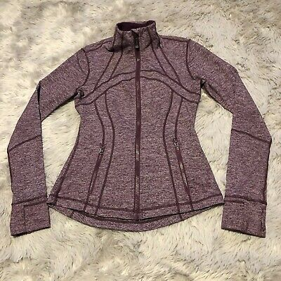 Lululemon Define Jacket Static Plum Full Zip Women's Size 4 Fitted Vent Rare