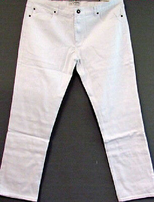 New Relaxed Men's Denim Jeans Trousers whith Stone White Zip 2.Wahl 56