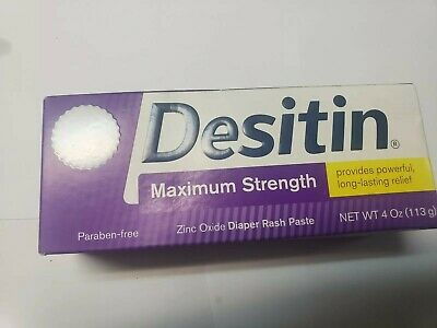 Desitin Maximum Strength Long Lasting Relief Diaper Rash Paste 4 Oz