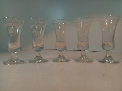 Jagermeister Collectible Footed Stem Shot Glasses (Set of 5) FREE SHIPPING