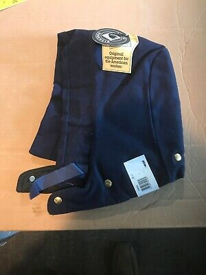 Carhartt Outerwear Navy Blue Snap Hood w//Quilted Red Lining NWT