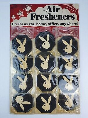 Vintage 1980's Playboy Bunny Air Freshener Store Display Card 22 pcs. total