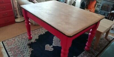 Lovely Old Victorian Kitchen/dining Table