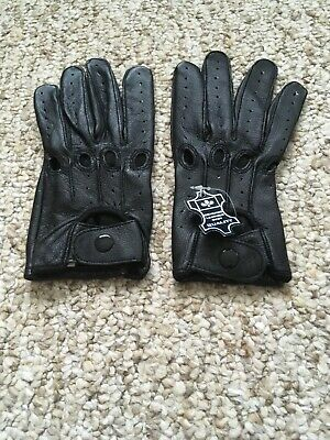 Women's Driving Small Black Leather Gloves