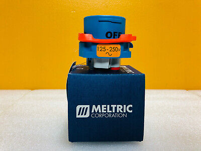 Meltric 33-18076 DS20 125/250 VAC 20 A 0.75/2 hp Type 3R Inlet Plug New In Box!