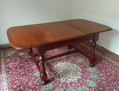 Extendable Solid Wood Antique Dining Table