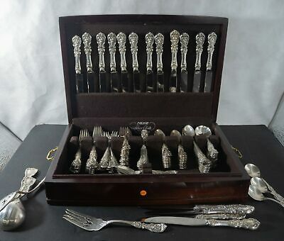 "Reed and Barton ""Francis 1st"" sterling silver flatware set 133pc"