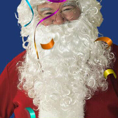Christmas Santa Claus Wig and Beard Adult Fancy Cosplay Party Dress Costume