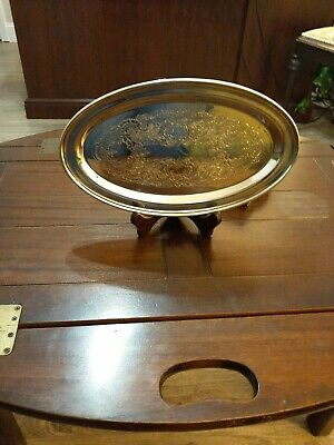 POOLE Bristol EPCA Silverplate OVAL TRAY