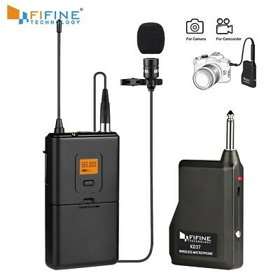 20-Channel UHF Wireless Lavalier Lapel Microphone System Transmitter Fifine