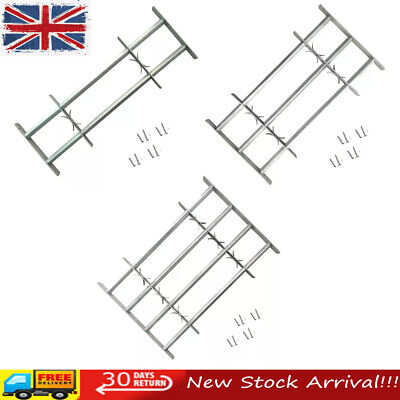 Adjustable Security Grille for Windows Safe Protective 2/3/4 Crossbar Steel