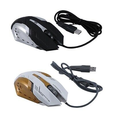 6X(KINGANGJIA G500 Alloy Chassis Shining ESports Gaming Mouse USB Wired E6Y5)