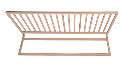 Safetots Extra Wide Extra Tall Wooden Bed Rail Natural