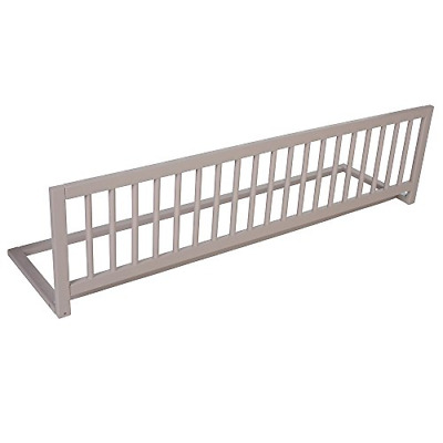 Safetots Extra Wide Wooden Bed Rail, Grey