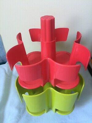 Tassimo Koziol  T Disc Pod Holder Carousel Stand 2 Piece 40 Disc Red/Green