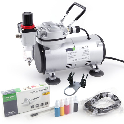 Airbrush Kit Fengda FD-18-2K with Compressor FD-18-2, Airbrush FE-130 and
