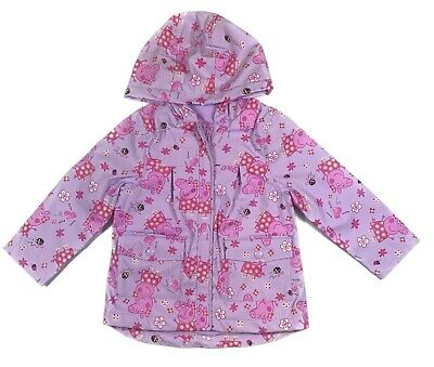 Official Peppa Pig Girls Rain Coat 24 Months & 3 4 5 Years old
