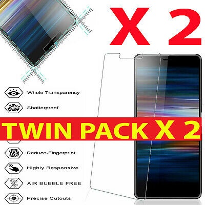 2PACK FOR SONY XPERIA L1 XA1 L3 XA2 Bubble-Free TEMPERED GLASS SCREEN PROTECTOR