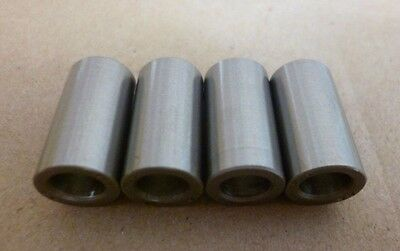 """1/4"""" ID x 13/32"""" OD x 3/4"""" TALL STAINLESS STEEL STANDOFF SPACERS 4pc."""