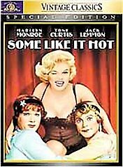 Some Like It Hot (DVD, 2001, Special Edition) Brand New Marilyn Monroe