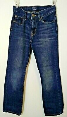 Gap Boys Jeans Size 10 Skinny Fit Dark Blue Adjustable Waist