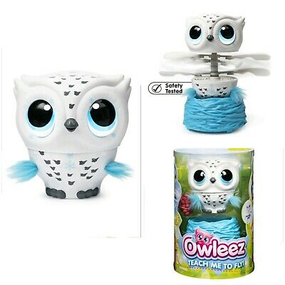 Owleez, Flying White Baby Owl Interactive Toy Pet Lights & Sounds Kids Gift