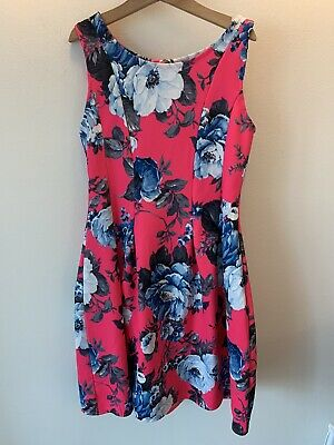 Girls Matalan Age 12-13 Bright Pink Floral Party Dress