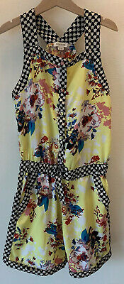Girls River Island Age 12 Yellow Patterned Playsuit Summer