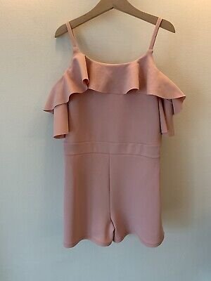 Girls River Island Age 9-10 Pink Party Playsuit