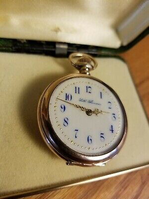 Seth Thomas Fancy Dial Pocket Watch. Solid 10k Gold. Diamond accent. Great Cond.