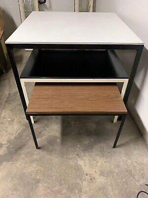 Knoll Mid Century Coffee Nesting Tables Florence Knoll Square Set Of 3