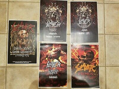 Slayer 11x17 2018 2019 Final tour promo concert poster lamb of god tickets cd