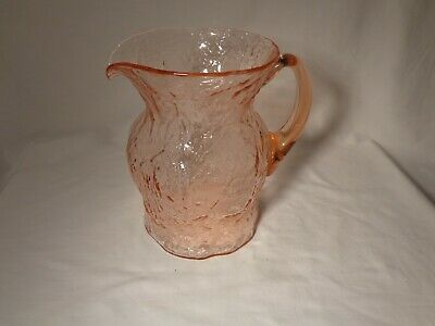 Elegant Morgantown Glass Art Deco Lmx Ockner Anna Rose 64 Ounce Pitcher / Jug-Nr